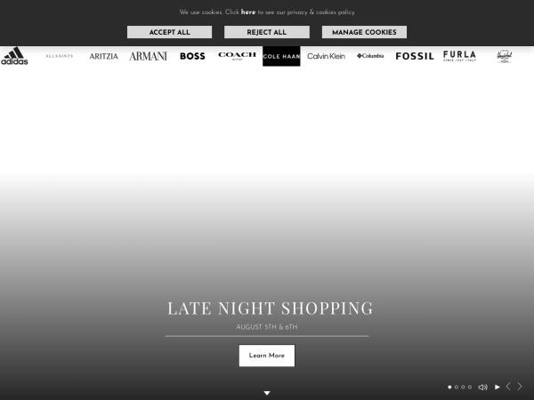 Screenshot of www.mcarthurglen.com