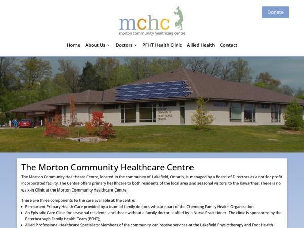 Screenshot of www.mchclakefield.ca