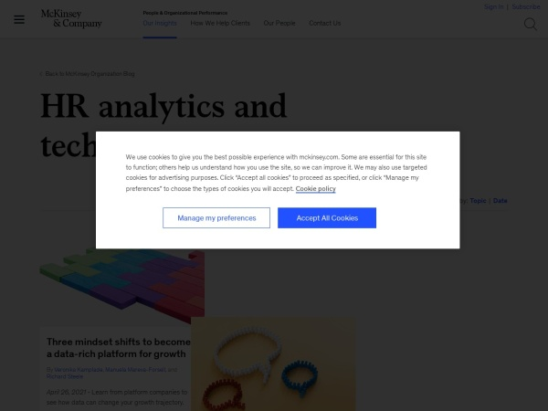 McKinsey HR Analytics and Technology Blog Screenshot