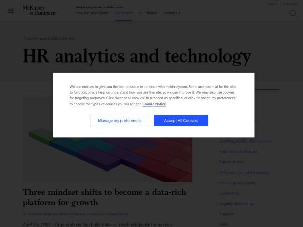 McKinsey HR Analytics and Technology Blog Screenshot