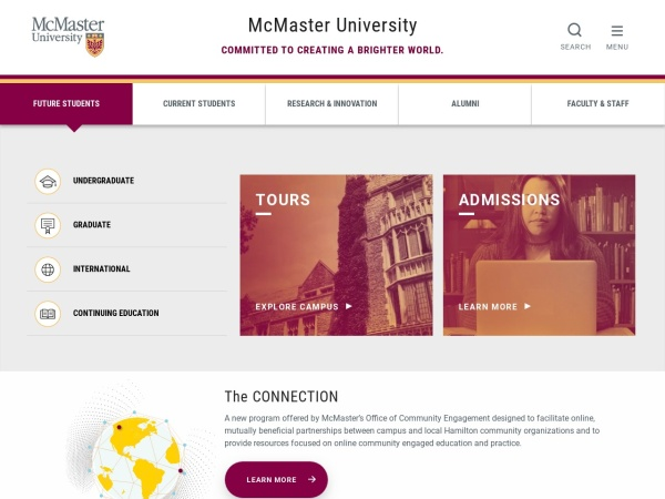 Screenshot of www.mcmaster.ca