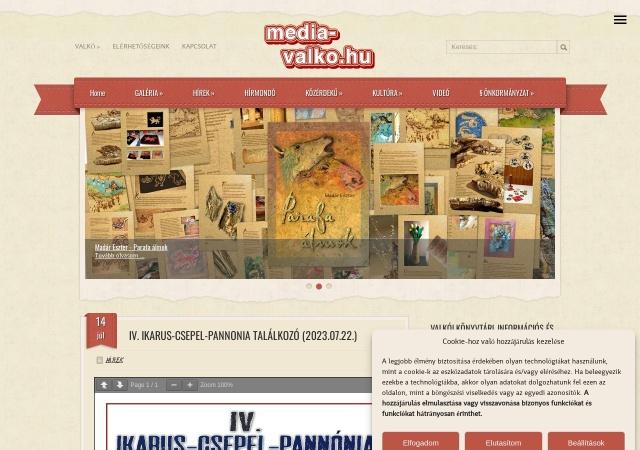 Screenshot of www.media-valko.hu