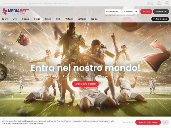 Screenshot of www.mediabet.it