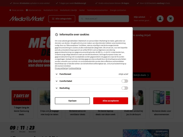 Screenshot of www.mediamarkt.nl