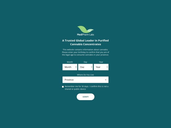 Screenshot of www.medipharmlabs.com