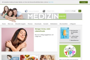 Screenshot of www.medizinpopulaer.at