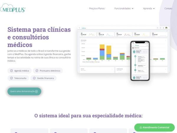 Screenshot of www.medplus.com.br