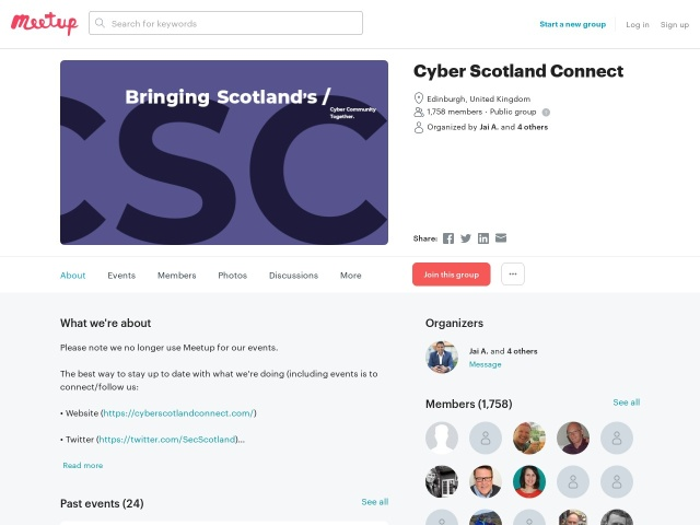 https://www.meetup.com/Security-MeetUp-Scotland/
