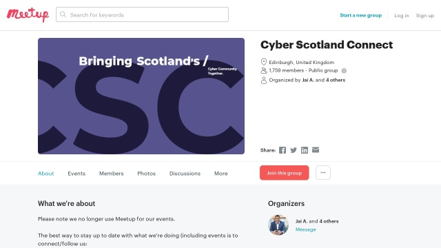 https://www.meetup.com/Security-MeetUp-Scotland/