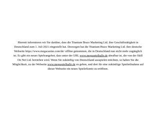 Mega Casino Vorschau