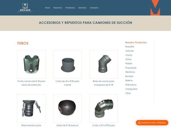 Captura de pantalla de www.megser.net