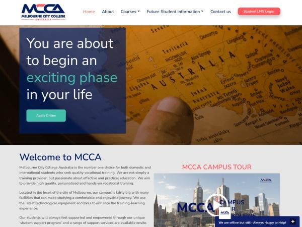 Screenshot of www.melbournecitycollege.edu.au