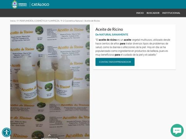 Captura de pantalla de www.mendoza.gov.ar