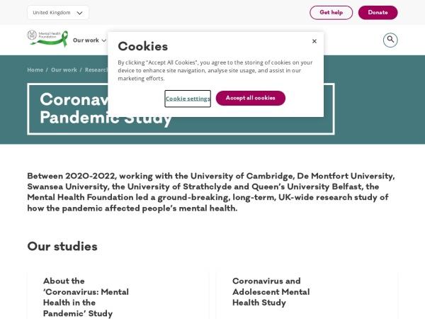 Screenshot of www.mentalhealth.org.uk