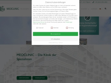 Screenshot von www.meoclinic.de