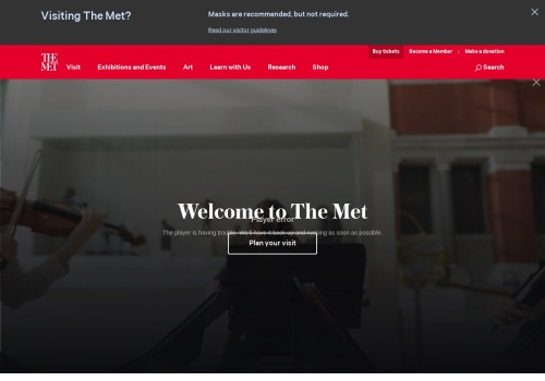Screenshot of www.metmuseum.org