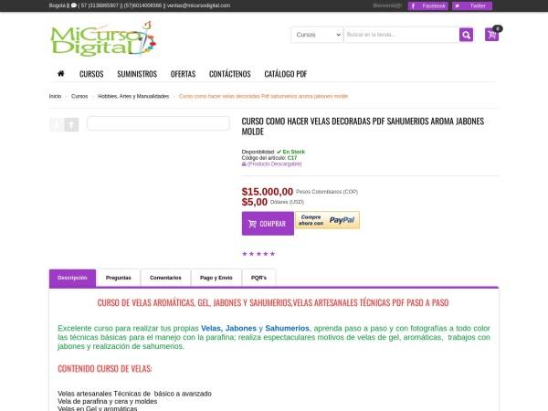 Captura de pantalla de www.micursodigital.com