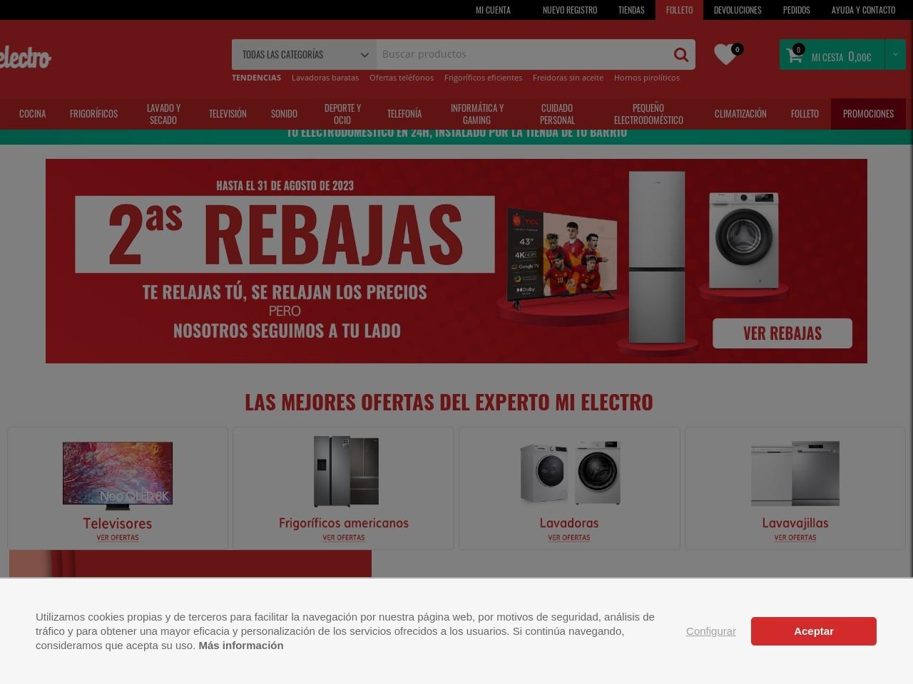 Captura de pantalla de www.mielectro.es