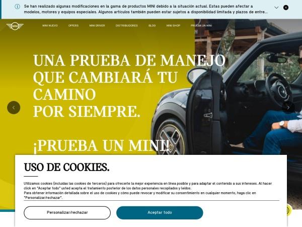 Captura de pantalla de www.mini.com.co