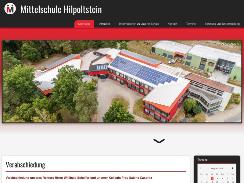 Screenshot of www.mittelschule-hilpoltstein.de