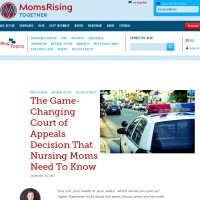 Screenshot of www.momsrising.org