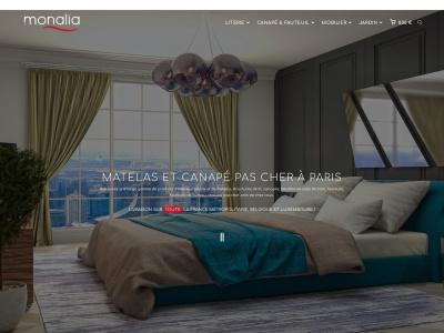 Découvrez la sélection de mobilier d'intérieur de Monalia : literie, canapés et chaises, meubles de salle de bain. Nos réalisations personnalisées