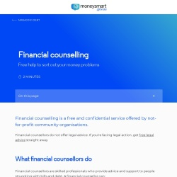 Screenshot of www.moneysmart.gov.au