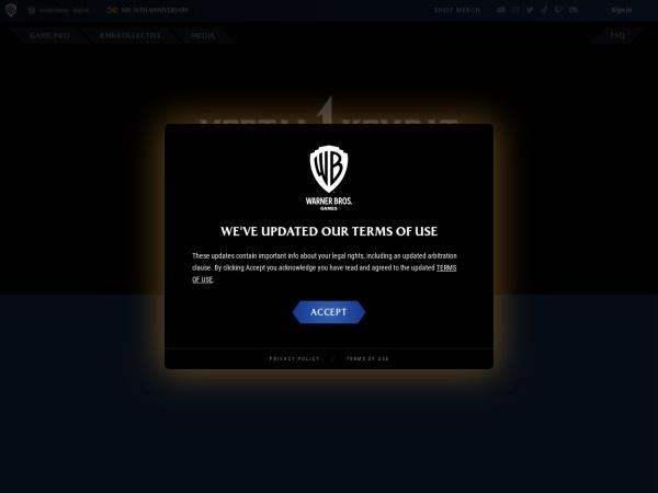 Screenshot of www.mortalkombat.com