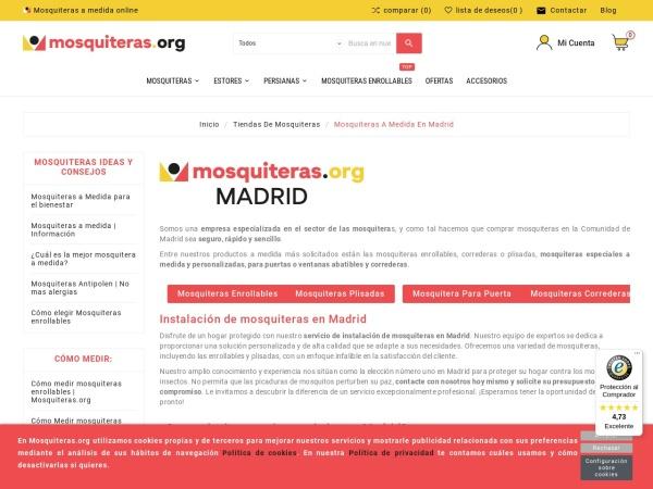 Captura de pantalla de www.mosquiteras.org