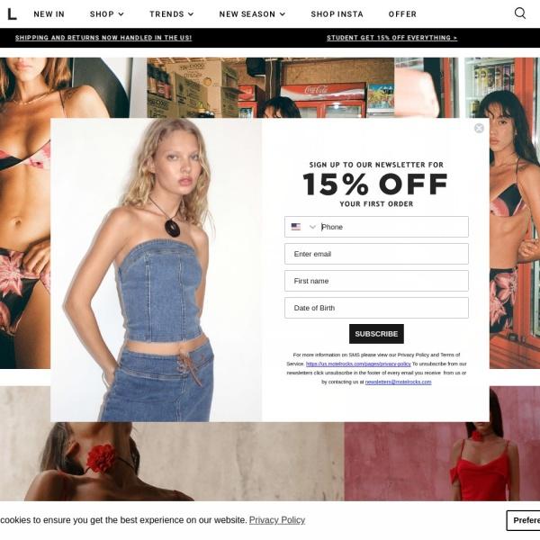 Screenshot of www.motelrocks.com