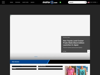 Screenshot of www.motor1.com