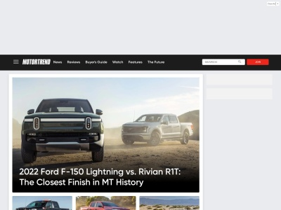 Screenshot of www.motortrend.com