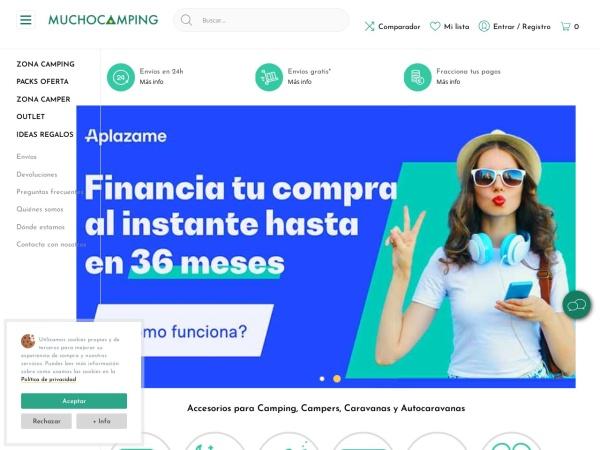 Captura de pantalla de www.muchocamping.com