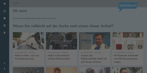 Screenshot of www.muenchen.tv