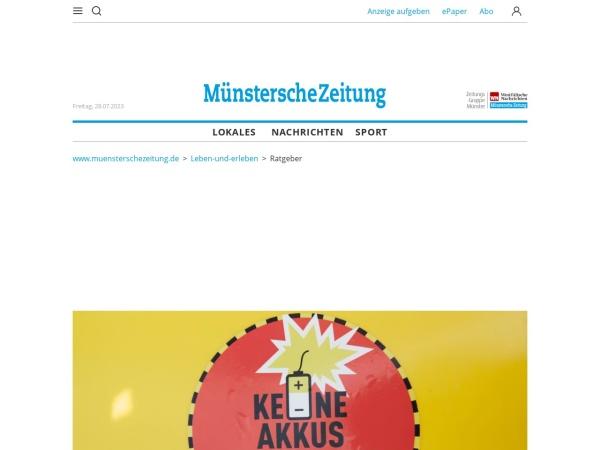 Screenshot von www.muensterschezeitung.de