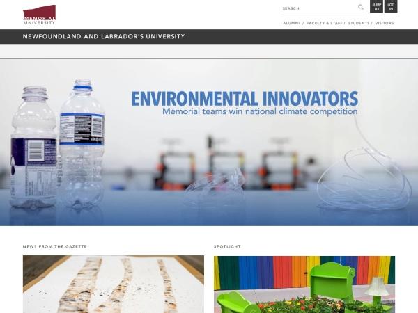 Screenshot of www.mun.ca