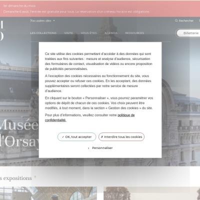 Screenshot of www.musee-orsay.fr