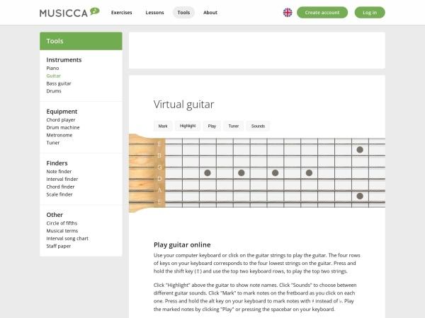 Screenshot of www.musicca.com