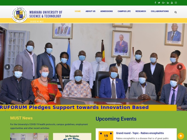 Screenshot of www.must.ac.ug