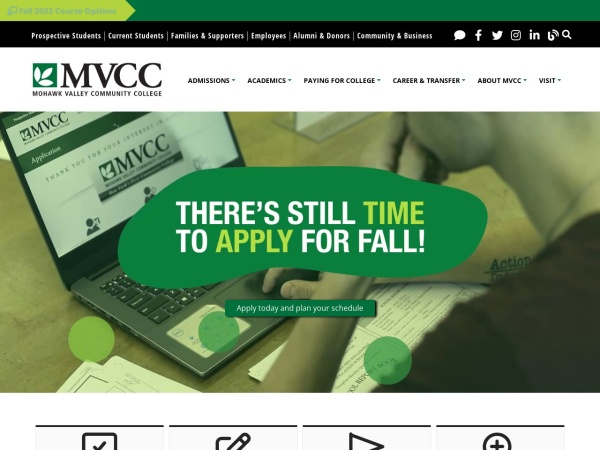 Screenshot of www.mvcc.edu