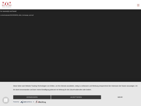 Screenshot of www.mxmdesign.de