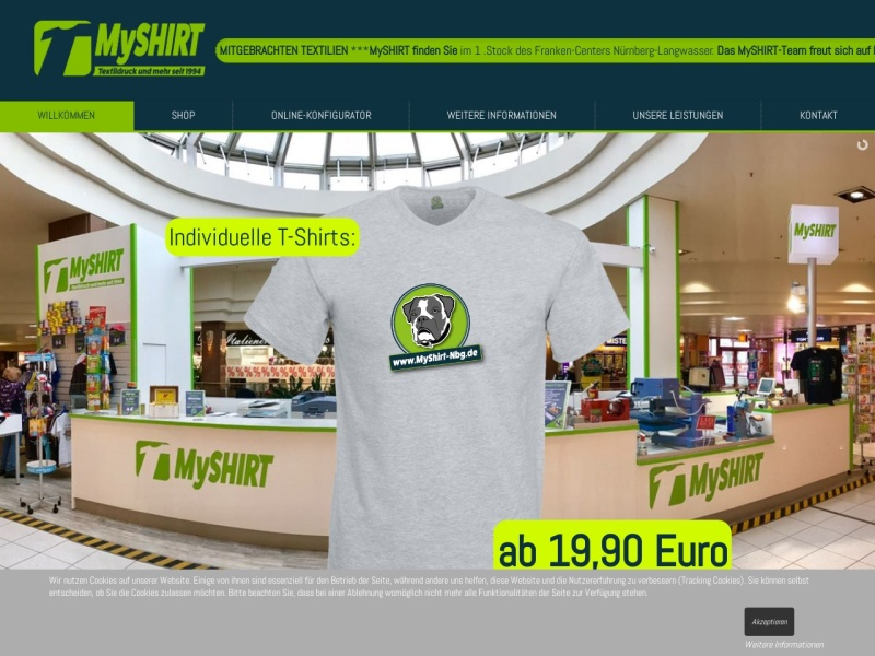 Screenshot of www.myshirt-nbg.de