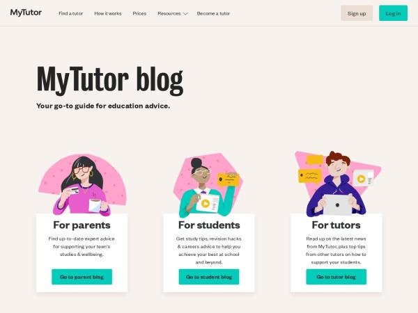 Screenshot of www.mytutor.co.uk