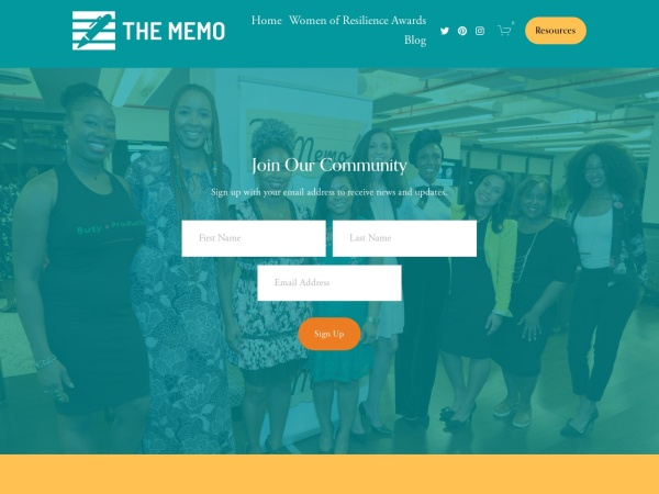 The Memo Blog Screenshot