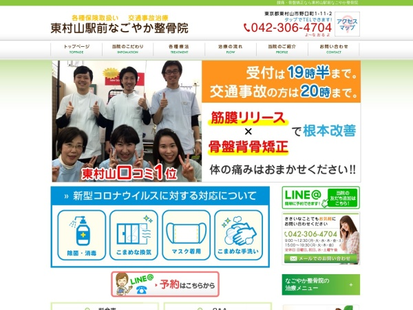 Screenshot of www.nagoyaka-seikotsuin.com