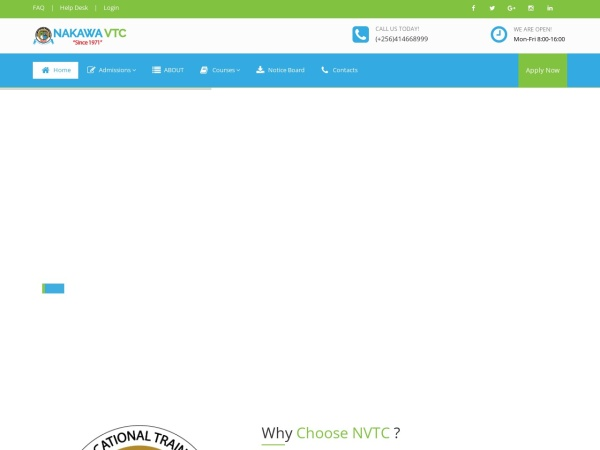 Screenshot of www.nakawavtc.ac.ug