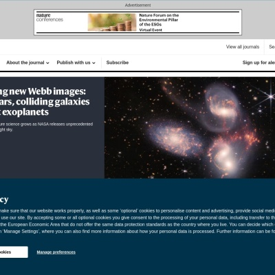 Screenshot of www.nature.com