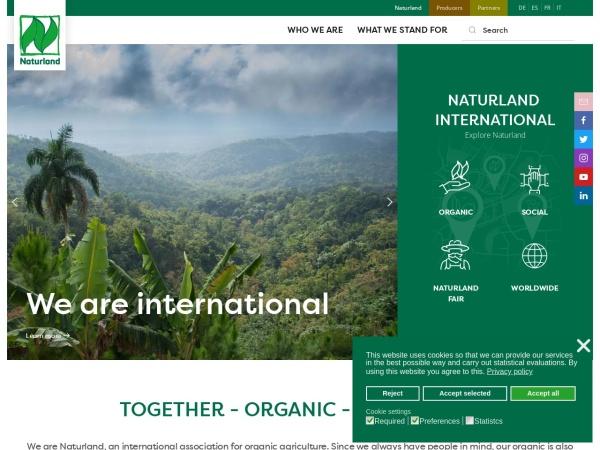 Naturland公式サイト