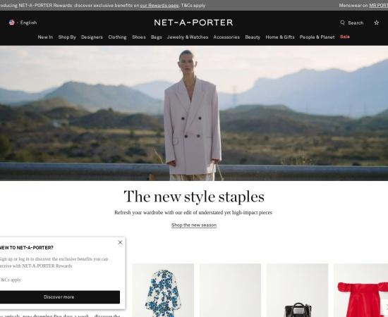 Screenshot of www.net-a-porter.com