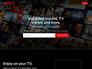 Screenshot of www.netflix.com